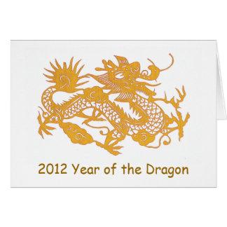 Gold Dragon New Year's greeting card