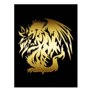 GOLD DRAGON POSTCARD