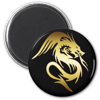 GOLD DRAGON REFRIGERATOR MAGNET