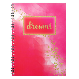 Gold Dreams Red Pink Journal by Jo Sunshine