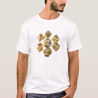 Gold Dungeon Master Dice T-Shirt