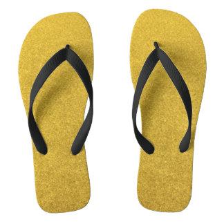 GOLD DUST (a precious metal color) ~ Flip Flops