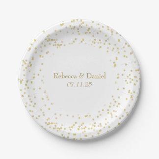Gold Dust Confetti Paper Plate