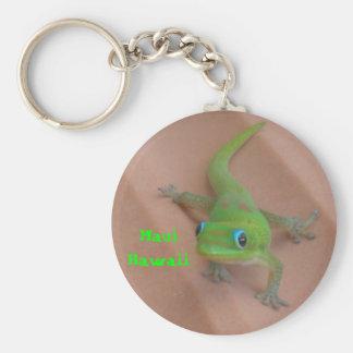 Gold Dust Day Gecko Keychain