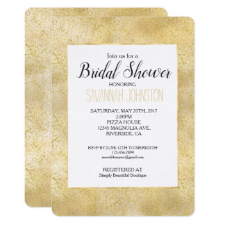 Gold Dust Sparkle Confetti Bridal Shower Card