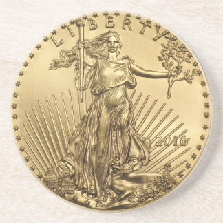 Gold Eagle coin Coaster
