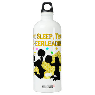 GOLD EAT SLEEP CHEERLEADING DESIGN