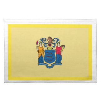 Gold Edge New Jersey Flag Placemat