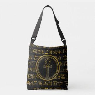 Gold Egyptian Ankh Cross symbol Crossbody Bag