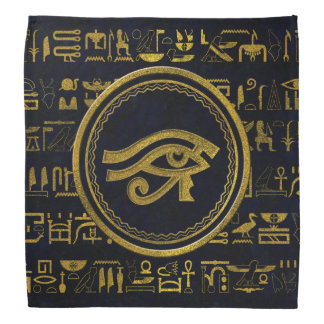 Gold Egyptian Eye of Horus - Wadjet Bandana