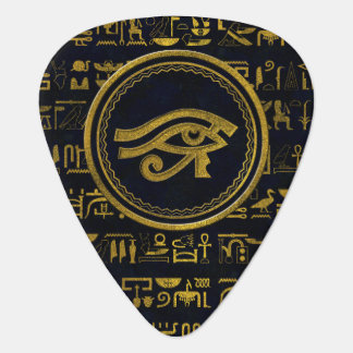 Gold Egyptian Eye of Horus - Wadjet Guitar Pick