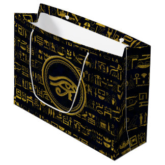Gold Egyptian Eye of Horus - Wadjet Large Gift Bag