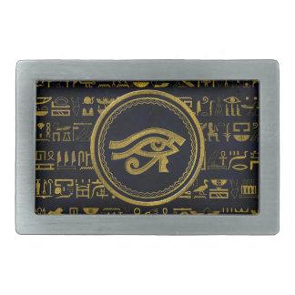Gold Egyptian Eye of Horus - Wadjet Rectangular Belt Buckles