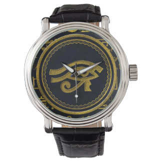 Gold Egyptian Eye of Horus - Wadjet Watch