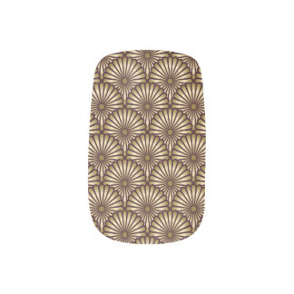 Gold Egyptian Palm Fern Tree Nail Stickers