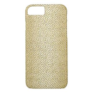 Gold Egyption Maze Patten Texture Sparkle iPhone 7 Case