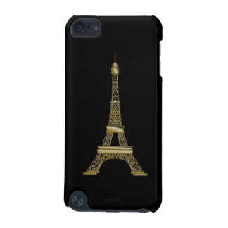 Gold Eiffel Tower French Black iPod Touch 5g Case