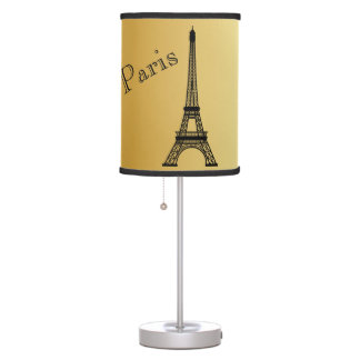 Gold Eiffel  Tower Lamp