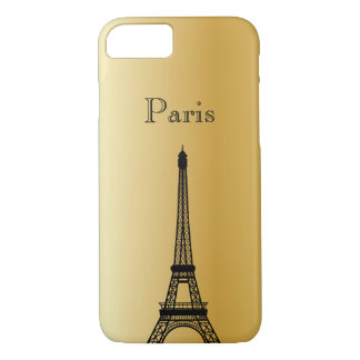 Gold Eiffel Tower Silhouette Phone & Ipad Cases