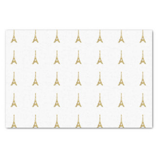 Gold Eiffel Tower Tissue Paper