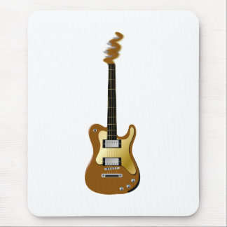 Gold electric guitar fizzle headstock mouse pad