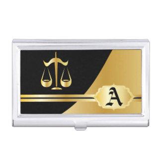 Gold Elegant Lawyer Card Holder Business Card Holders