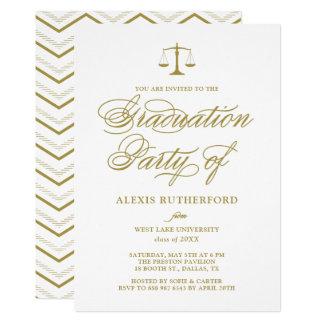 Gold Elegant Script Law School Graduation Card