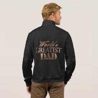 Gold Elegant Typography World's Greatest Dad Jacket