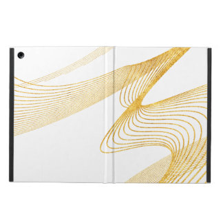 Gold Elegant -WH- iPad Air Case with No Kickstand