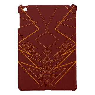 Gold elements on choco zig zag iPad mini cover