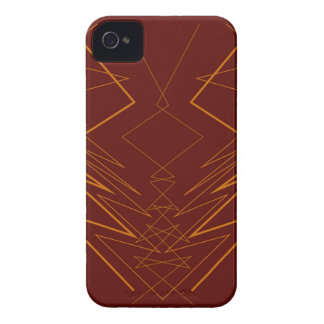 Gold elements on choco zig zag iPhone 4 case