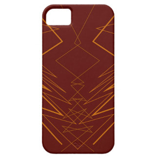 Gold elements on choco zig zag iPhone 5 cover