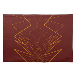 Gold elements on choco zig zag placemat