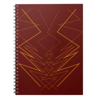 Gold elements on choco zig zag spiral notebook