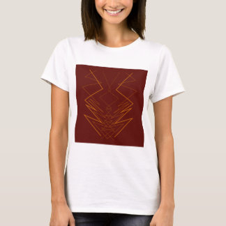Gold elements on choco zig zag T-Shirt