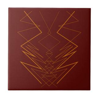 Gold elements on choco zig zag tile