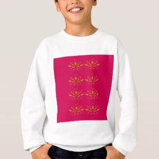 Gold elements on pink sweatshirt
