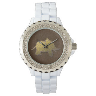 gold elephant - chocolate watches