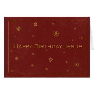 Gold Embossed Like Happy Birthday Jesus Card
