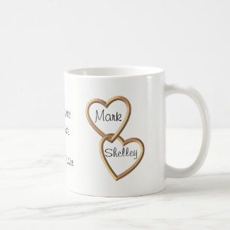 Gold Entwined Hearts and Flowers Sentimental Coffee Mug
