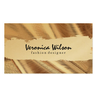 Gold Fabric with Line Threading Business Card