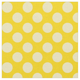 Gold Fabric With Matching Polka Dots