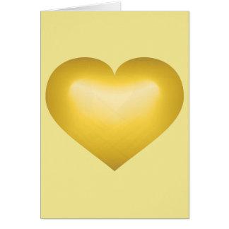 Gold fade heart - blank inside card