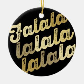 Gold Falalalala Christmas Holiday Photo Ornament