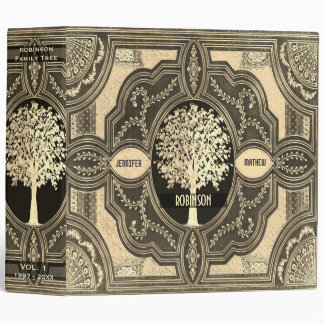 Gold Family Tree Genealogy Album 3 Ring Binders