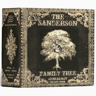 Gold Family Tree Genealogy Album Vinyl Binders