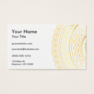 Gold Fancy Business Card