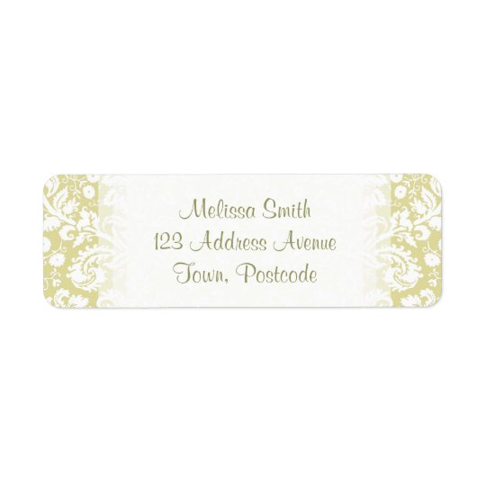 Gold fancy floral damask