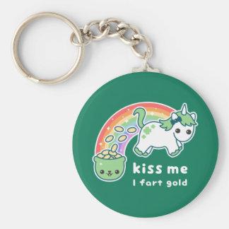 Gold Farting Unicorn Keychain