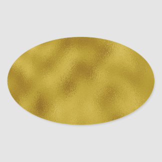Gold faux foil oval sticker
